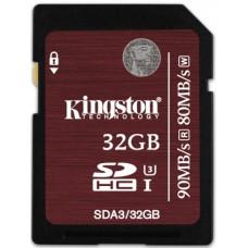 Карта памяти Kingston 4K SDHC 32GB Class10 UHS-I U3 R90/W80MB/s